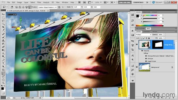 Masking, blending, and lighting a scene: Photoshop CS5 Extended One-on-One: 3D Objects