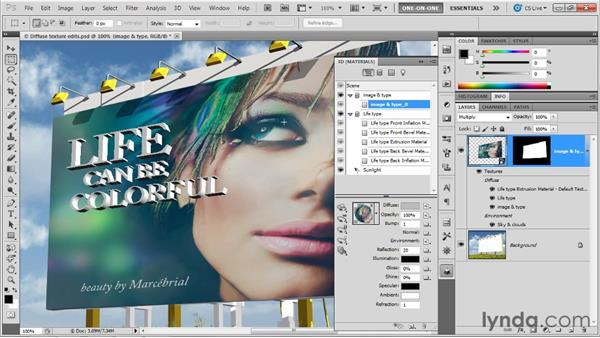 Tying objects together with reflectivity: Photoshop CS5 Extended One-on-One: 3D Objects