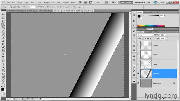 Adding defects with a bump map: Photoshop CS5 Extended One-on-One: 3D Objects