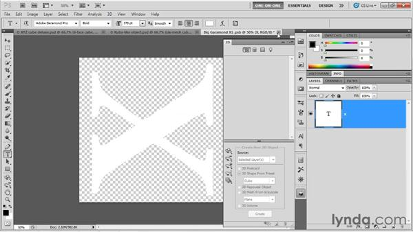 Loading and editing diffuse textures: Photoshop CS5 Extended One-on-One: 3D Objects