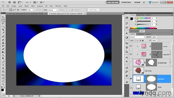 Creating a starburst effect with Repoussé: Photoshop CS5 Extended One-on-One: 3D Objects