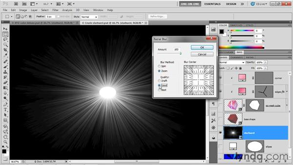 Filtering a 3D object as a Smart Object: Photoshop CS5 Extended One-on-One: 3D Objects