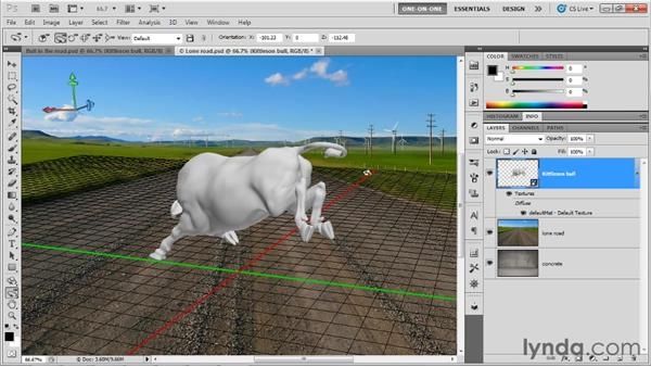 Importing 3D models: Photoshop CS5 Extended One-on-One: 3D Objects