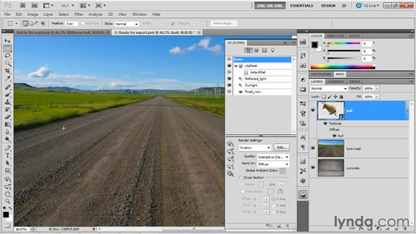 Exporting a model as a 3D shape preset: Photoshop CS5 Extended One-on-One: 3D Objects
