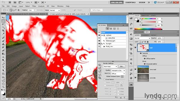 Identifying and painting details in 3D: Photoshop CS5 Extended One-on-One: 3D Objects