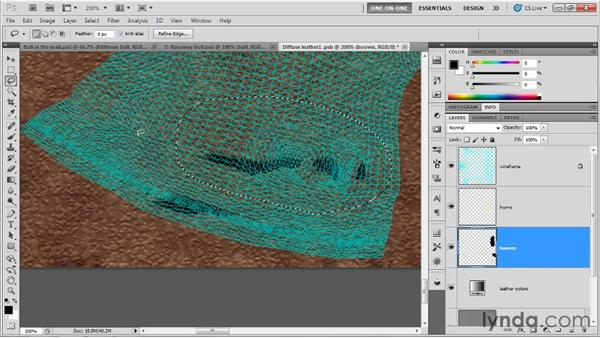Navigating inside a complex UV map: Photoshop CS5 Extended One-on-One: 3D Objects