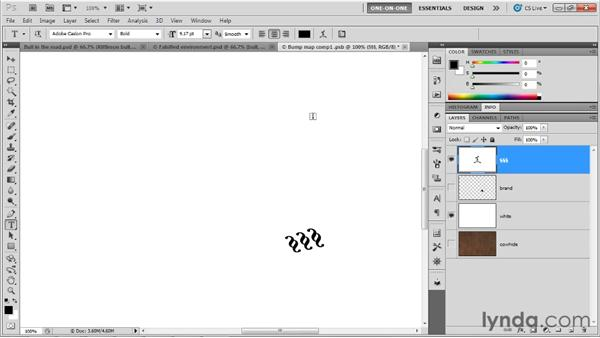 Making and painting a multilayer bump map: Photoshop CS5 Extended One-on-One: 3D Objects