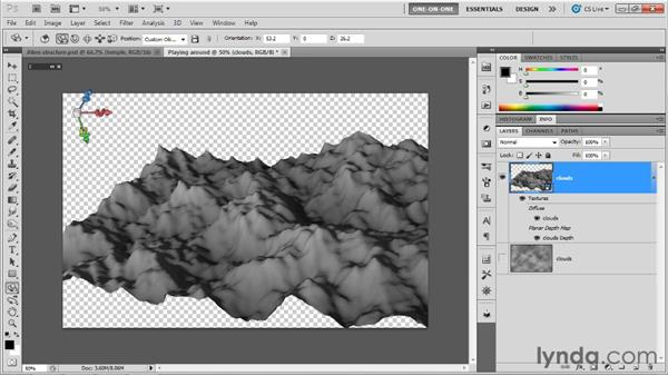 Introducing 3D depth maps: Photoshop CS5 Extended One-on-One: 3D Objects