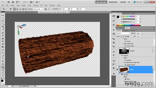 Cylindrical and spherical projections: Photoshop CS5 Extended One-on-One: 3D Objects