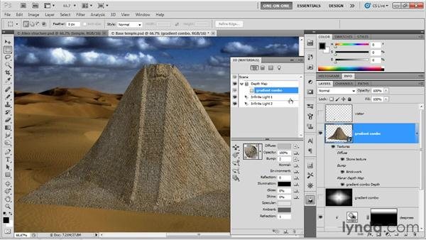 Making a 3D object look huge and distant: Photoshop CS5 Extended One-on-One: 3D Objects