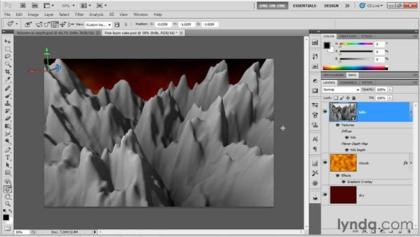 Building one 3D object from another: Photoshop CS5 Extended One-on-One: 3D Objects