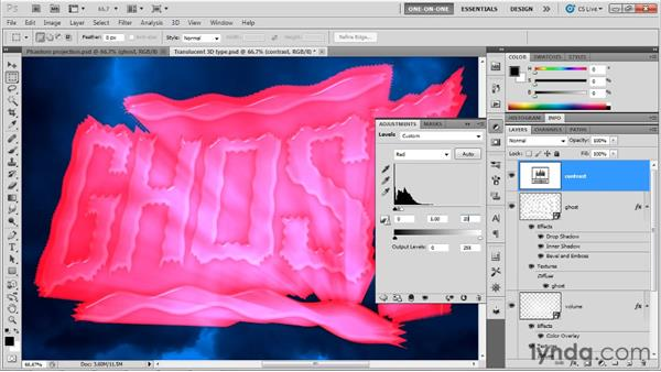 Boosting the highlights of a 3D composition: Photoshop CS5 Extended One-on-One: 3D Objects