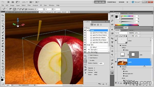 Extruding a long, bending object: Photoshop CS5 Extended One-on-One: 3D Objects