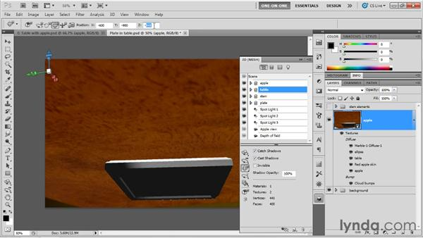 When in doubt, move what's easiest: Photoshop CS5 Extended One-on-One: 3D Objects