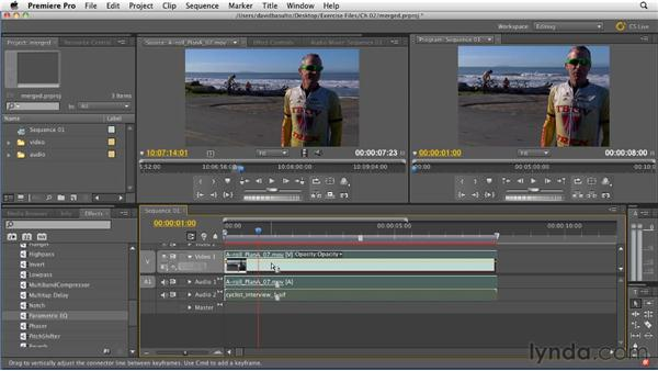 Creating a merged clip : Premiere Pro CS5.5 New Features