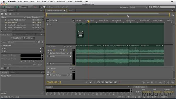 Sending a sequence to Audition for audio sweetening: Premiere Pro CS5.5 New Features