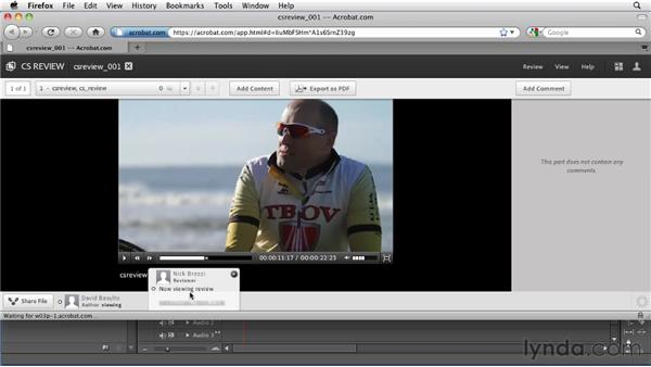 Collaborating with others using CS Review : Premiere Pro CS5.5 New Features