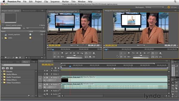 Adding closed captions to your work: Premiere Pro CS5.5 New Features