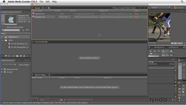 Exporting using the redesigned Media Encoder: Premiere Pro CS5.5 New Features