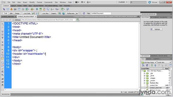 HTML5 code hinting: Dreamweaver CS5.5 New Features