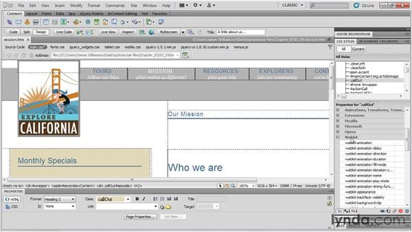 CSS3 support: Dreamweaver CS5.5 New Features
