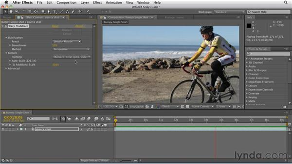Eliminating motion artifacts using Detailed Analysis: After Effects CS5.5 New Features