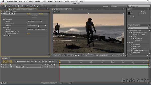 Locking off a shot: After Effects CS5.5 New Features