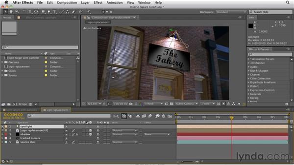 Creating realistic lighting using inverse square falloff: After Effects CS5.5 New Features