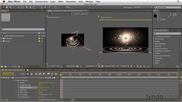 Creating lens blur with the After Effects camera: After Effects CS5.5 New Features