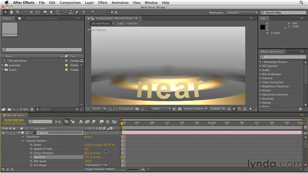 Creating a rack focus in 3D: After Effects CS5.5 New Features