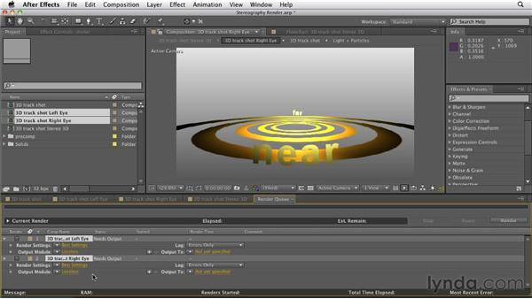 Rendering a 3D scene: After Effects CS5.5 New Features