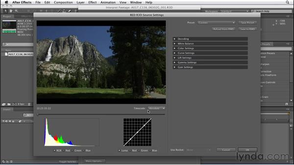 Working with RED camera footage: After Effects CS5.5 New Features