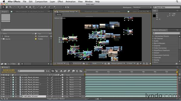 Dragging to quickly select multiple layers in a canvas: After Effects CS5.5 New Features