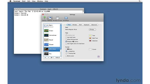The terminal application: Unix for Mac OS X Users
