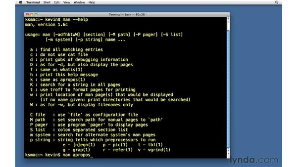 Unix manual pages: Unix for Mac OS X Users