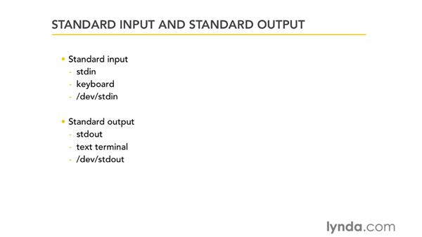 Standard input and standard output: Unix for Mac OS X Users