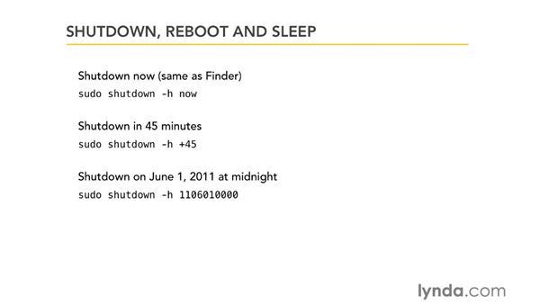 Shut down, reboot, and sleep: Unix for Mac OS X Users
