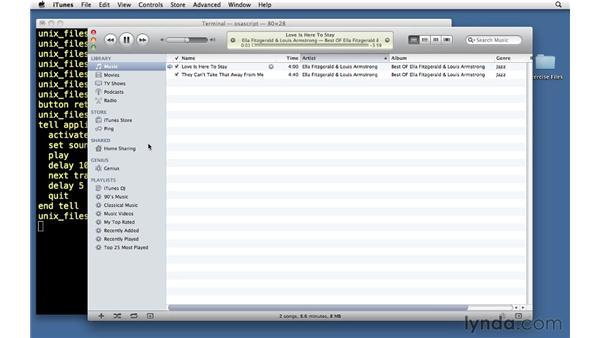 Using AppleScript: Unix for Mac OS X Users