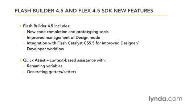 What's new in Flash Builder 4.5 and Flex 4.5?: Flash Builder 4.5 and Flex 4.5 New Features