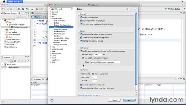 Invoking Code Assist with custom trigger keys: Flash Builder 4.5 and Flex 4.5 New Features