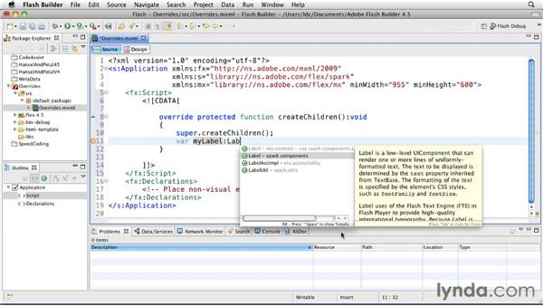 Implementing and overriding super class methods: Flash Builder 4.5 and Flex 4.5 New Features