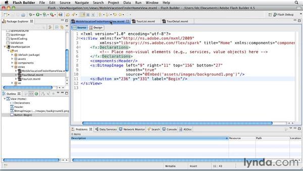 Handling navigation between views: Flash Builder 4.5 and Flex 4.5 New Features