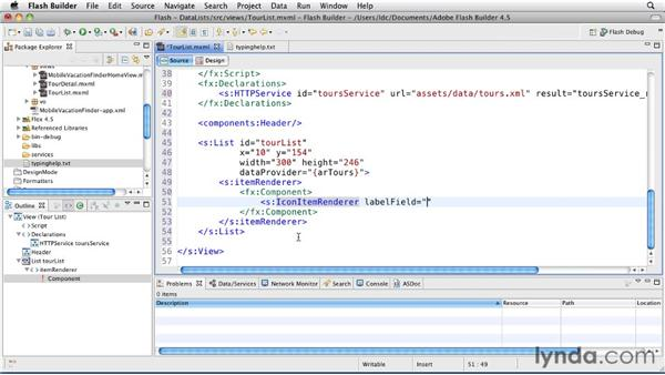 Displaying data with List and IconItemRenderer: Flash Builder 4.5 and Flex 4.5 New Features
