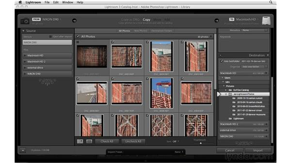 Importing photos from your camera: Up and Running with Lightroom 3
