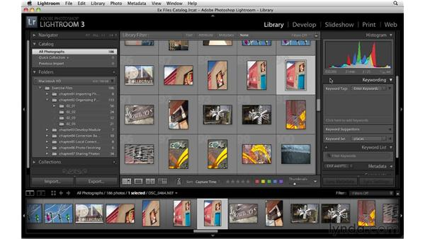 Touring the Library module: Up and Running with Lightroom 3