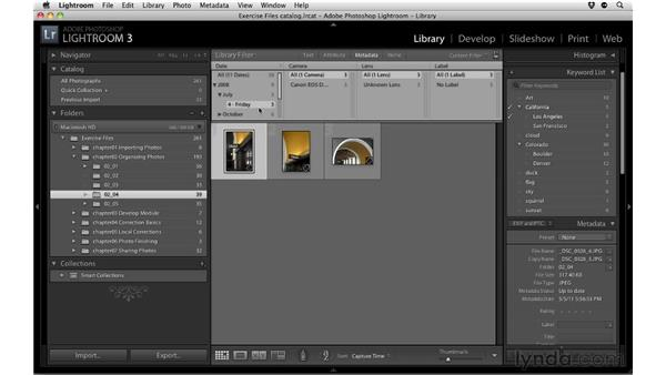 Finding photos: Up and Running with Lightroom 3