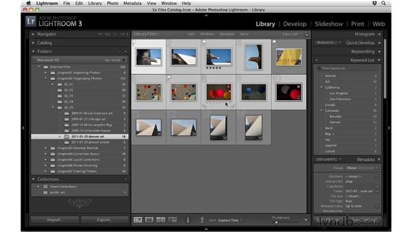 Making collections: Up and Running with Lightroom 3