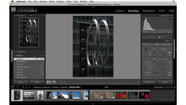 Touring the Develop module: Up and Running with Lightroom 3