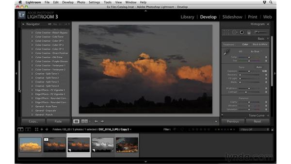 Working with virtual copies: Up and Running with Lightroom 3