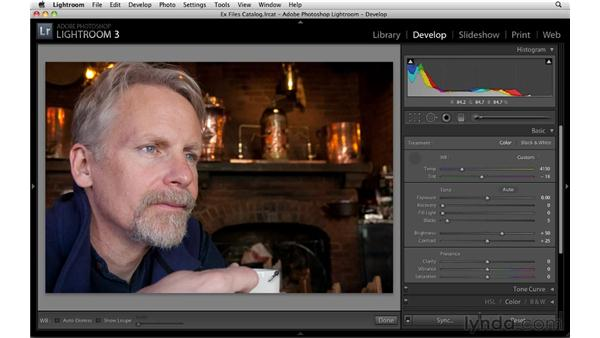 Setting white balance: Up and Running with Lightroom 3
